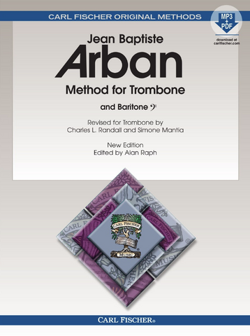 ARBAN METHOD FOR TROMBONE - BOOK/MP3 & PDF DOWNLOAD - JEAN BAPTISTE ARBAN - Carl Fischer