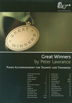 GREAT WINNERS PIANO ACCOMPANIMENT FOR TRUMPET/TRBNE - TRUMPET - BRASS WIND PUBLICATIONS