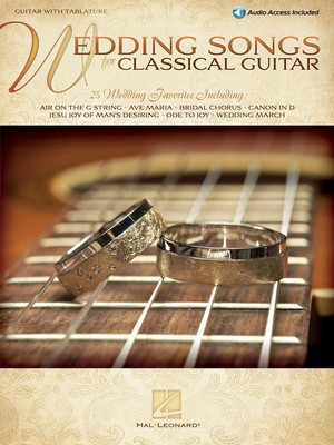 Wedding Songs for Classical Guitar - Guitar with Tablature - Various - Classical Guitar|Guitar Hal Leonard Guitar TAB Sftcvr/Online Audio