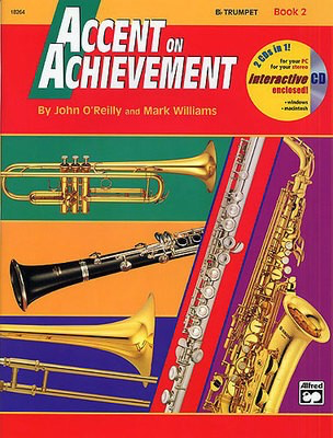 Accent on Achievement, Book 2 - Combined Percussion (S.D., B.D., Accessories & Mallet Percussion) - John O'Reilly|Mark Williams - Percussion Alfred Music /CD