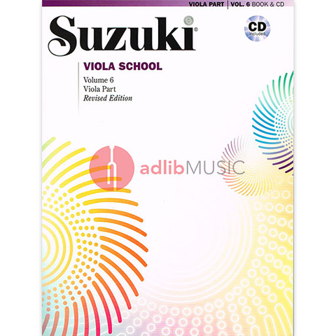 Suzuki Viola School Volume 6 Bk/CD - Suzuki Shinichi - Alfred Music