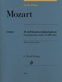 Mozart - At the Piano, 15 Well-Known Original Pieces - Piano Henle HN1812