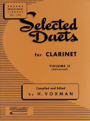 Selected Duets for Clarinet - Volume 2 - Advanced - Clarinet Rubank Publications Clarinet Duet - Adlib Music