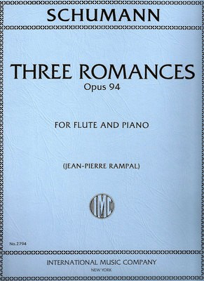 3 Romances Op. 94 - for Flute and Piano - Robert Schumann - IMC