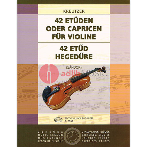 42 Studies - Kreutzer - Edited by Sandor - Violin Solo - EMB