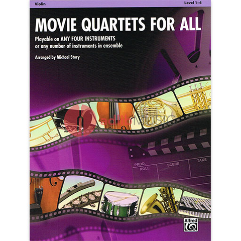 Movie Quartets for All - Violin - Various - Alfred