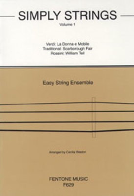 Simply Strings Volume 1 - Easy String Ensemble - Violin Cecilia Weston  Fentone Music Violin Solo Score/Parts