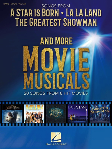 Songs From A Star Is Born, La La Land, The Greatest Showman & More Movie Musicals - Piano/Vocal/Guitar PVG Hal Leonard 287548