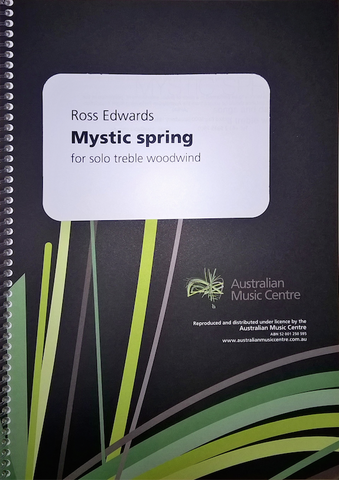 Mystic Spring - Ross Edwards - Flute Solo - Australian Music Centre