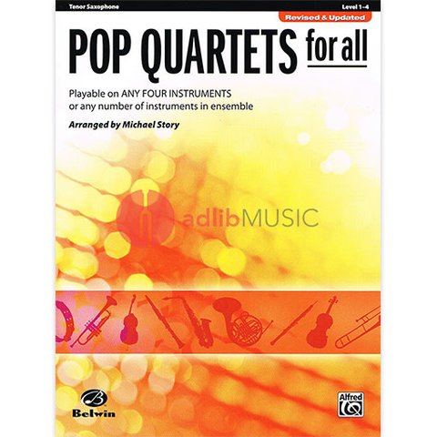 Pop Quartets for All Tenor Sax - Various - Alfred Music