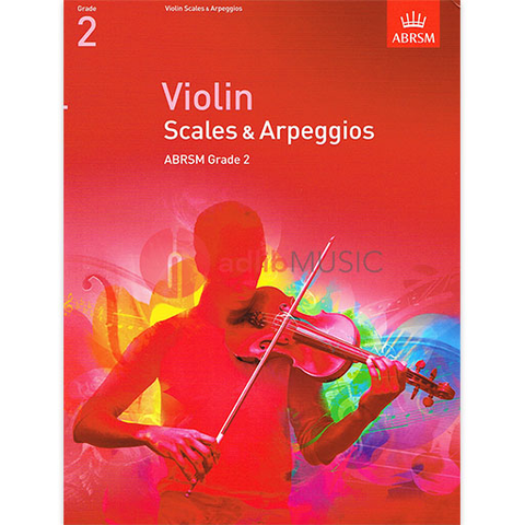 Violin Scales & Arpeggios, ABRSM Grade 2 - from 2012