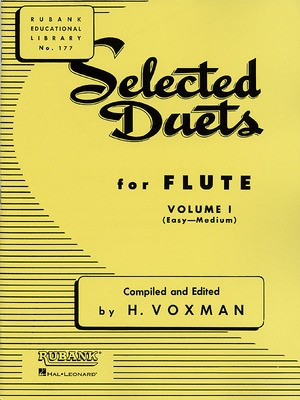 Selected Duets for Flute - Volume 1 - Easy to Medium - Flute Rubank Publications Flute Duet - Adlib Music