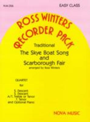 Skye Boat Song and Scarborough Fair - Traditional - Recorder Ross Winters Nova Music Recorder Quartet Parts
