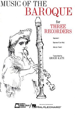 Music of the Baroque - Score & Parts - Various - Recorder Edward B. Marks Music Company Recorder Ensemble