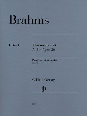 Piano Quartet Op. 26 A major - Johannes Brahms - Piano|Viola|Cello|Violin G. Henle Verlag Piano Quartet Parts