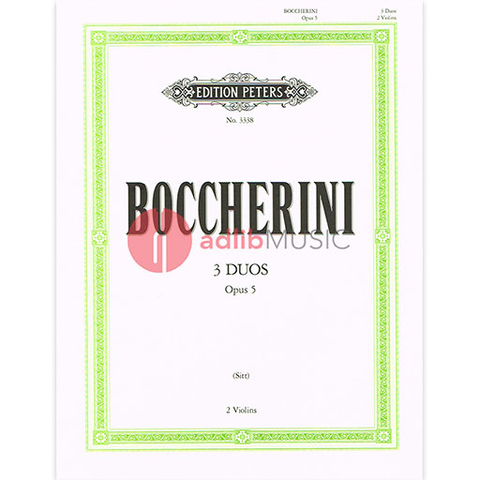 3 Duets Op. 5 - Luigi Boccherini - Violin Edition Peters Violin Duet