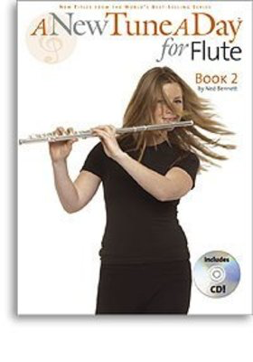 A New Tune A Day for Flute - Book 2 - (CD Edition) - Flute Ned Bennett Boston Music /CD - Adlib Music
