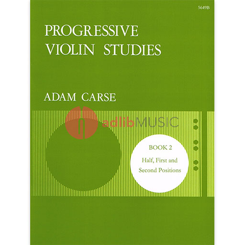 Progressive Violin Studies Book 2 - Half, First and Second Positions - Adam Carse - Stainer & Bell