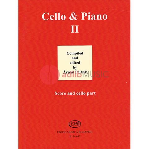 Cello and Piano Book 2 - Cello/Piano Accompaniment edited by Pejtsik EMB Z14637