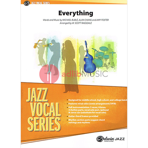 EVERYTHING - JAZZ ENSEMBLE GRADE 3 WITH VOCALS - BUBLE, CHANG, FOSTER - ALFRED