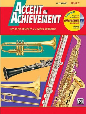 Accent on Achievement, Book 2 - Bb Clarinet - John O'Reilly|Mark Williams - Clarinet Alfred Music /CD - Adlib Music