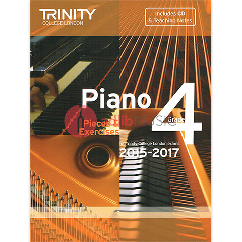 Trinity Piano Exam Pieces 2015-17 Grade 4 Bk/Cd - Trinity