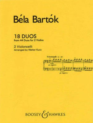 18 Duos - Cello Duet - Bela Bartok - Cello Boosey & Hawkes Cello Duet