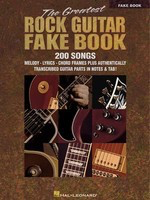 The Greatest Rock Guitar Fake Book - Hal Leonard Fake Book Spiral Bound