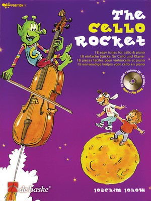 The Cello Rocket - 18 Easy Tunes for Cello and Piano - Joachim Johow - Cello De Haske Publications /CD