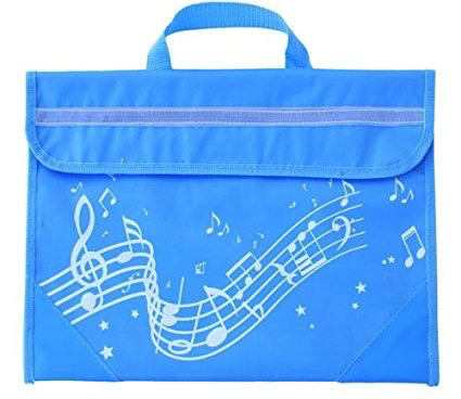 Musicwear Wavy Stave Music Bag - Light Blue