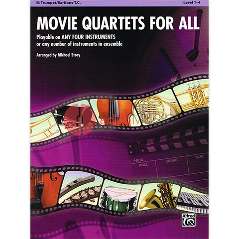 Movie Quartets for All Trumpet - Various