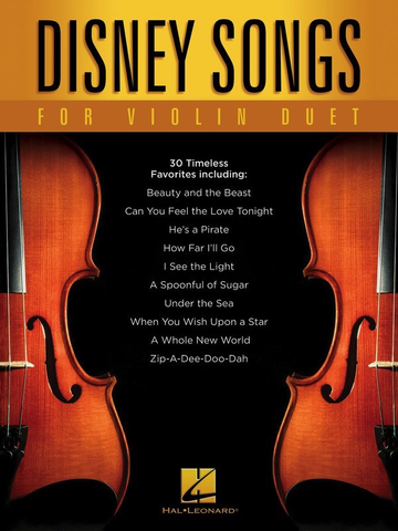 Disney Songs for Violin Duet - 2 Violins - Hal Leonard