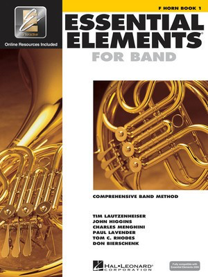 Essential Elements for Band - Book 1 with EEi - F Horn - French Horn Charles Menghini|Donald Bierschenk|John Higgins|Paul Lavender|Tim Lautzenheiser|Tom C. Rhodes Hal Leonard /CD-ROM - Adlib Music