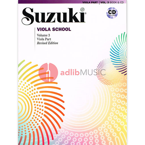 Suzuki Viola School Volume 3 Bk/CD - Suzuki Shinichi - Alfred Music