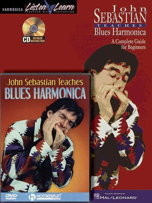 John Sebastian - Harmonica Bundle Pack - John Sebastian Teaches Blues Harmonica (Book/CD) with John Sebastian - Harmonica John Sebastian Homespun Book/CD/DVD