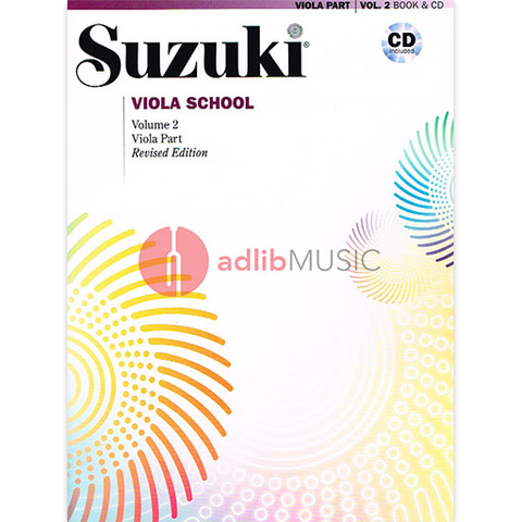 Suzuki Viola School Volume 2 Bk/CD - Suzuki Shinichi - Alfred Music