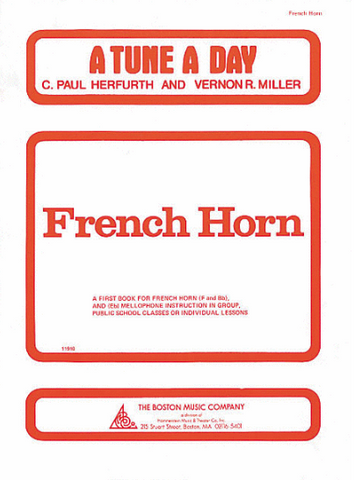 A Tune A Day Book 1 French Horn - French Horn - Boston Music