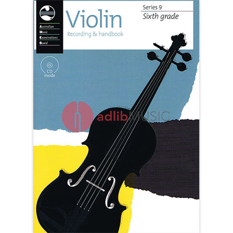 Violin Series 9 - Recording and Handbook Sixth Grade - Violin AMEB /CD