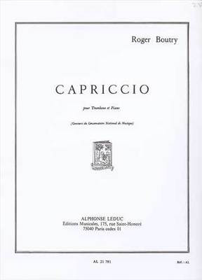 Capriccio - for Trombone and Piano - Roger Boutry - Trombone Alphonse Leduc