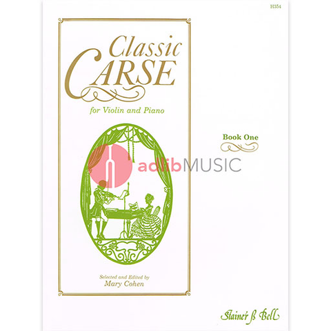 Classic Carse Book 1 - Violin and Piano - Adam Carse - Violin Stainer & Bell
