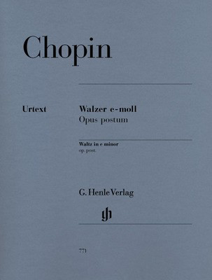 Waltz e minor Op. post. - Frederic Chopin - Piano G. Henle Verlag Piano Solo
