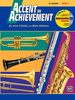 Accent on Achievement, Book 1 - Trumpet - John O'Reilly|Mark Williams - Trumpet Alfred Music /CD - Adlib Music