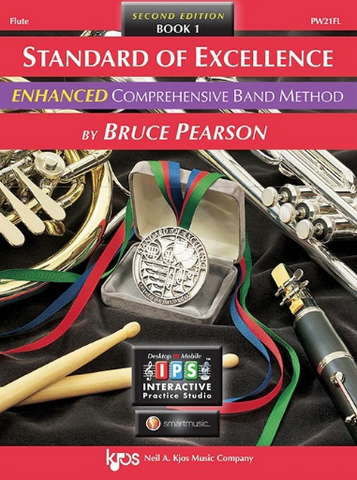 Standard of Excellence Enhanced Book 1 - Flute Part/CD by Pearson Kjos PW21FL