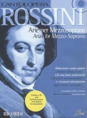 Cantolopera: Rossini Arie Per Mezzosoprano - Piano Vocal Score plus CD with instrumental and vocal versions - Gioachino Rossini - Ricordi