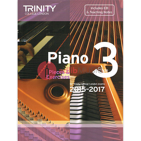 Trinity Piano Exam Pieces 2015-17 Grade 3 Bk/Cd - Trinity