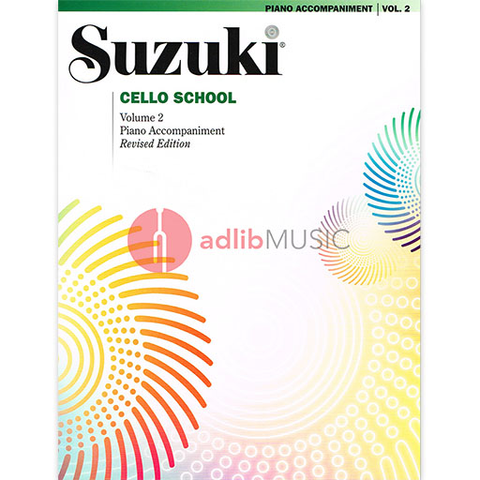 Suzuki Cello School Piano Accompaniment Volume 2 (Revised) - Cello - Summy-Birchard - Piano Accompaniment