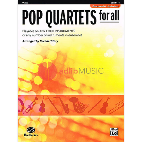 Pop Quartets for All Violin - Various - Alfred Music