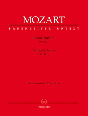 Concert Arias for Bass - Wolfgang Amadeus Mozart - Classical Vocal Bass Christian Beyer Barenreiter