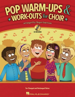 Pop Warm-ups & Work-outs for Choir - Roger Emerson Hal Leonard Softcover/CD