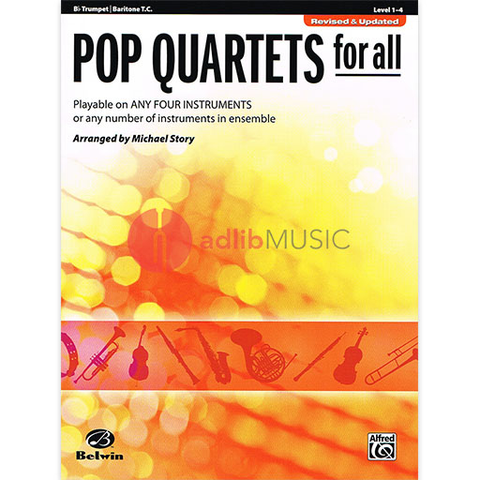 Pop Quartets for All Trumpet - Various - Alfred Music